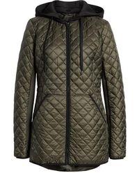 MICHAEL Michael Kors - Diamond Quilted Hybrid Hooded Jacket - Lyst