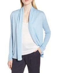 Nordstrom Cashmere Blend Cardigan - Blue
