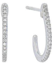CARRIERE JEWELRY | Carriere Diamond J-shape Earrings (nordstrom Exclusive) | Lyst
