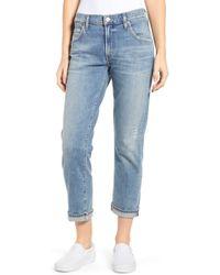 Citizens of Humanity Emerson Crop Slim Fit Boyfriend Jeans - Blue