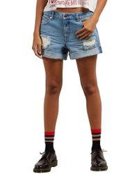 Volcom - Stonewash Denim Shorts - Lyst