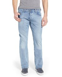 4a513821 DIESEL Jeans Zatiny 842c Bootcut Fit Mid Wash in Blue for Men - Lyst