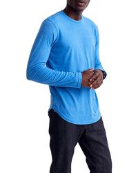 Goodlife Triblend Scallop Long Sleeve Crewneck T-shirt - Blue