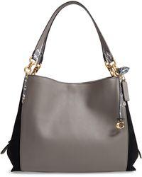 COACH - Dalton 31 Leather & Genuine Snakeskin Shoulder Bag - Lyst
