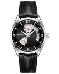 Hamilton | Jazzmaster Open Heart Automatic Leather Strap Watch | Lyst