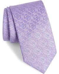 Eton of Sweden Paisley Silk Tie - Purple