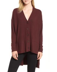 Gibson - High/low Easy Cardigan - Lyst