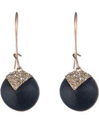 Alexis Bittar - Crystal Encrusted Origami Dome Earrings - Lyst
