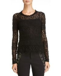 Isabel Marant - Stretch Lace Top - Lyst