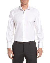 David Donahue - Regular Fit Solid Dress Shirt - Lyst