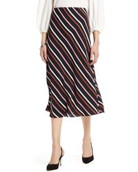 Halogen Halogen Bias Cut A-line Midi Skirt - Black