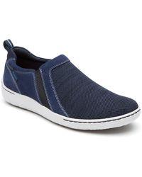 Dunham Men's Fitsmart Double Gore Slip-on - Blue