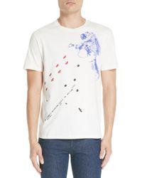 Raf Simons Slim Fit Astronaut Graphic T-shirt - White
