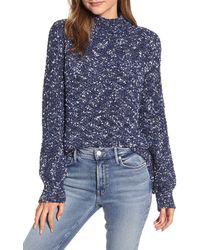 Caslon Caslon Mock Neck Pullover - Blue