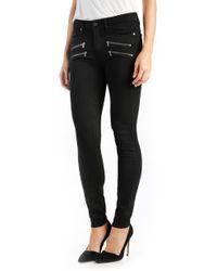 PAIGE Transcend - Edgemont High Rise Ultra Skinny Jeans - Black