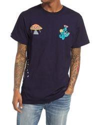 BBCICECREAM Men's Embroidered Short Sleeve Tee - Blue