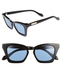 Sonix Ginza 50mm Cat Eye Sunglasses - Blue