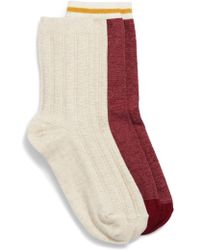 Treasure & Bond - 2-pack Cable Knit Crew Socks - Lyst