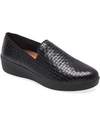 Fitflop Superskate Platform Loafer - Black