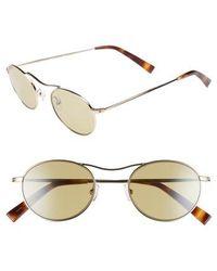 Kendall + Kylie - Tasha 49mm Oval Sunglasses - Light Gold Metal/ Camo Silver - Lyst