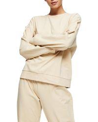 TOPSHOP Ecru Peached Jersey Loungewear Sweatpants - Natural