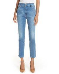 FRAME - Le Slender Straight Leg Jeans - Lyst