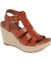 MIA Giordanaa Espadrille Wedge Sandal - Brown