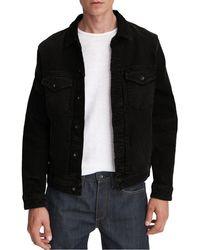 Rag & Bone - Definitive Jean Jacket Classic Fit Black Jean Jacket - Lyst