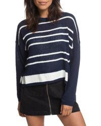 Roxy - Variegated Stripe Boxy Sweater - Lyst