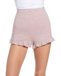 BB Dakota - Embry Ruffle Hem Lounge Shorts - Lyst
