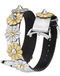 Fendi - Selleria 17mm Embellished Leather Watch Strap - Lyst