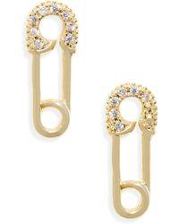 Melinda Maria Safety Pin Earrings - Metallic