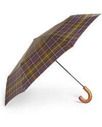 Barbour - Telescoping Tartan Umbrella - Lyst
