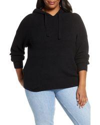 Caslon Caslon Sweater Hoodie - Black
