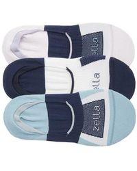 Zella - 3-pack Low Profile Socks, Purple - Lyst