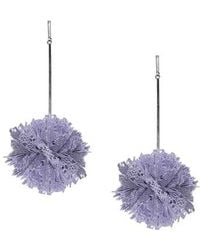Tuleste - Lace Pom Pom Earrings - Lyst