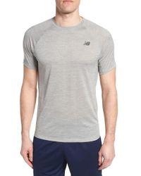 New Balance - Tenacity Crewneck T-shirt - Lyst
