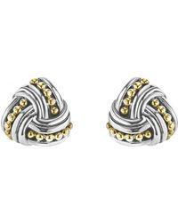 Lagos Torsade Stud Earrings - Metallic