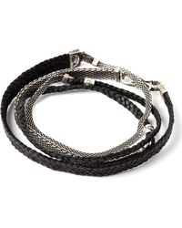 Title Of Work - Mesh & Leather Wrap Bracelet - Lyst
