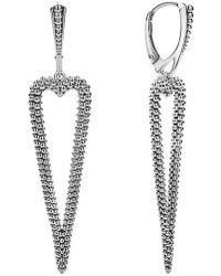 Lagos - Signature Caviar Pointed Heart Earrings - Lyst