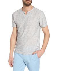 W.r.k. - Metro Stripe Henley Shirt - Lyst