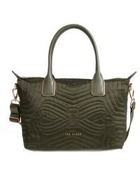 Ted Baker - Quilted Bow Small Nylon Tote - Lyst