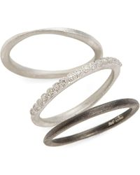 Armenta New World Set Of Three Stacking Rings - Metallic