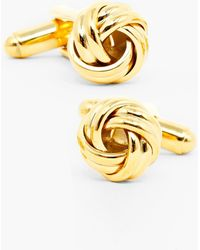 Ox and Bull Trading Co. Knot Cuff Links - Metallic