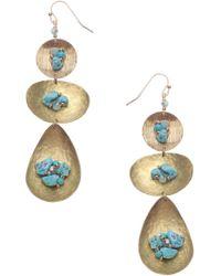 Nakamol Tiered Drop Earrings - Multicolour