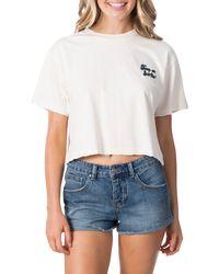Rip Curl Keep On Surfin Crop T-shirt - White