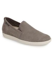Mephisto - 'ulrich' Perforated Leather Slip-on - Lyst