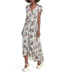Band Of Gypsies - Floral Maxi Dress - Lyst