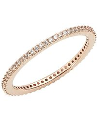 Nadri - Skinny Cubic Zirconia Pave Band Ring - Lyst