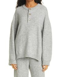 Nanushka Lamee Henley Sweater - Grey